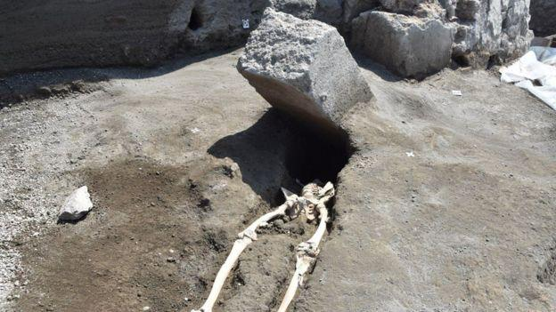 TFW you survive the initial eruption in Pompeii, but then a giant rock punches you in the face: