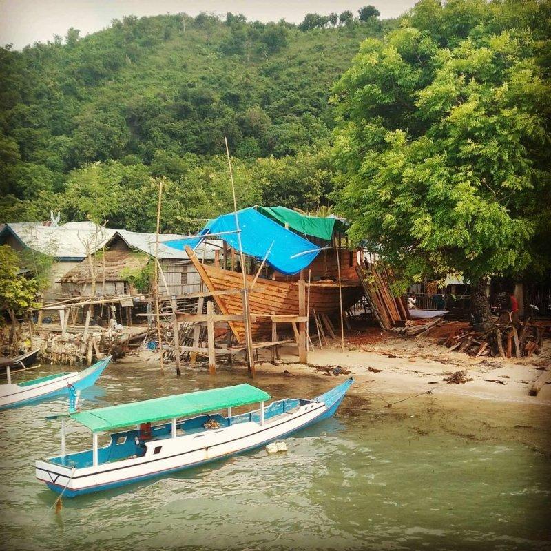 Shipyard in a remote village  #hackerbeach