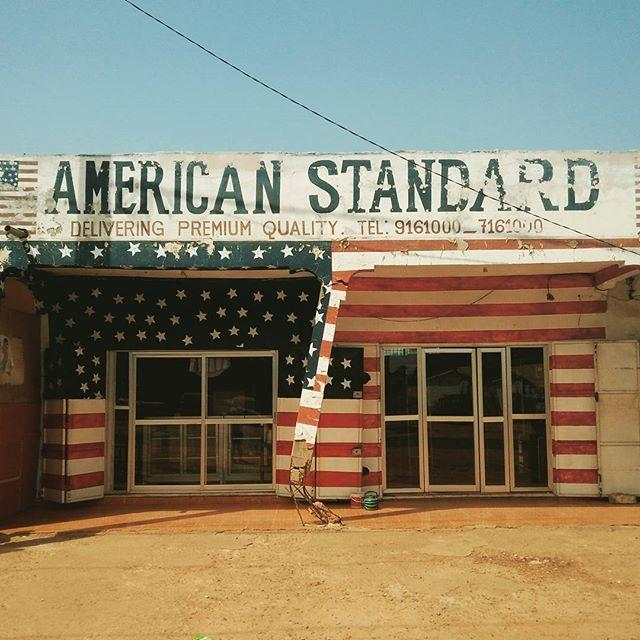 American Standard. Premium quality. #hackerbeach #gambia