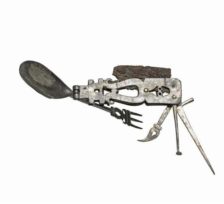 """Here's a cool artifact: a mostly-silver Roman """"Swiss army knife"""". The ultimate travel tool for the discerning patrician. http://webapps.fitzmuseum.cam.ac.uk/explorer/index.php?oid=70534"""