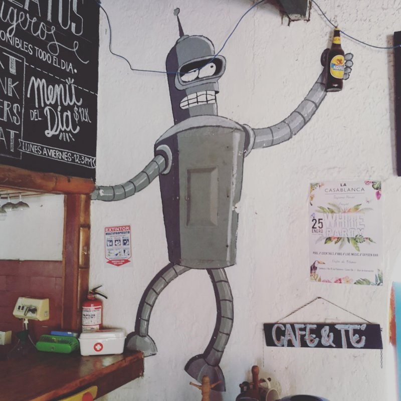 Was hanging out with Bender every day during the last week.